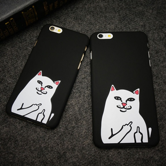 Accessories - Rude cat F you Iphone cell phone case cover